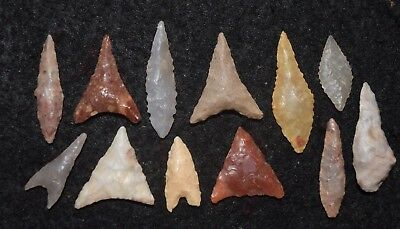 12 nice Sahara Neolithic  miniature tools (including a small drill)