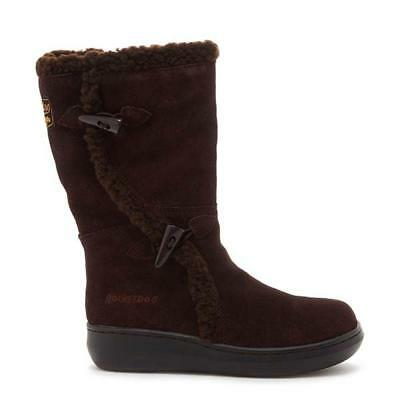 Womens Rocket Dog Slope Cow Calf Fur Winter Boots Suede Choco UK 4 £85 off !!