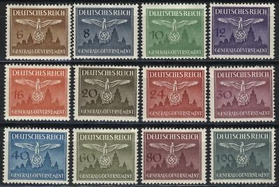 WW2 nazi Germany Third Reich swastika stamps 1943 Generalgouvernement MNH