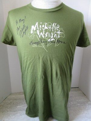 2006 Michelle Wright Everything and More Autographed Green T-Shirt Size XL