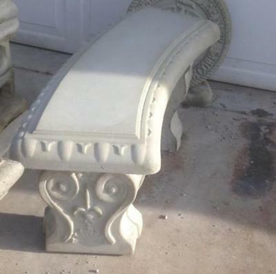 Concrete Bench Mold Set Curved top and 2 Legs