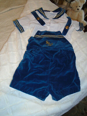Vintage Navy Sailor 2 piece outfit toddler size