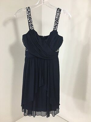 f86560d6d Speechless Women's Gleaming Of You Embellished Party Dress Navy Sz 5 Nwt