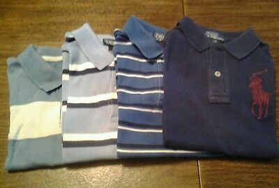 Polo Ralph Lauren Gymboree Toddler Boys Rugby Shirt Lot of 4 Size 4