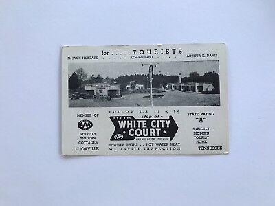 White City Court Knoxville TN Tennessee Texaco RPPC Advertising Mileage Route