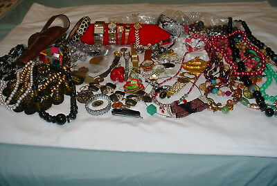 Junk Drawer MIX Merchandise Jewelry, Watches, Coins, Pocket Knife, Gun Holster