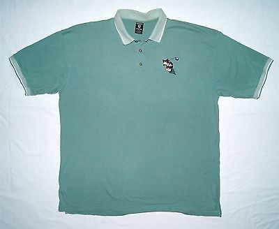 Warner Brothers Studio Store Men Polo Golf Shirt Embroidered Taz 2XL Green S/S