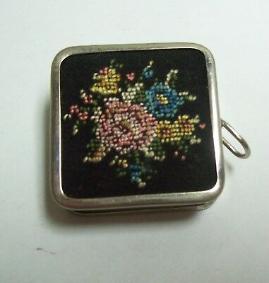 Vintage Sewing Tape Measure - German Needlepoint Floral