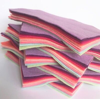 Wool Mix 9 inch Felt Squares x10 Bouquet Bundle - Soft Craft Felt!!