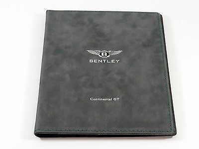 Bentley Continental GT Press Kit Brochure with Prints in Suede Folder 2002 MINT