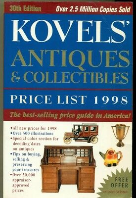 Book - Sc - Kovels' Antiques & Collectibles Price List - 1998