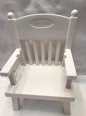 American Girl Bitty Baby Retired Pink White Blue High Chair