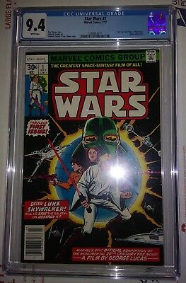 Star Wars #1 - CGC 9.4 NM - White pages - Bronze Age Key - New Case
