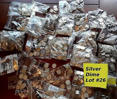 Liberty Winged Mercury Dimes Silver 30 Coin Lot, 1916-1919 W/ mints