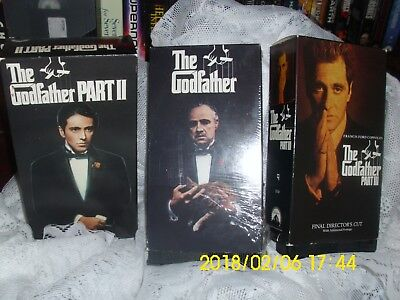 """Movies Vhs """"the Godfather Trilogy"""" Francis Ford Coppola's Epic 1, 2, 3  1972-90"""