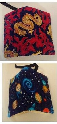 REVERSIBLE Handmade Regular Size Fabric Paperback Book Cover - Free Shipping!!