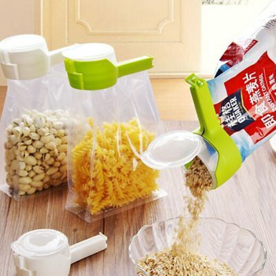 Seal Pour Food Storage Bag Clip Snack Sealing Fresh Keeping Sealer Clamp Plastic