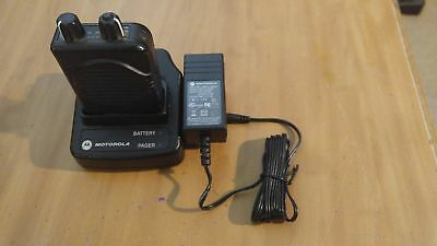 Nice Used Motorola Minitor Model V / 5 Pager W/ Charger & Battery - FD 47.125 US