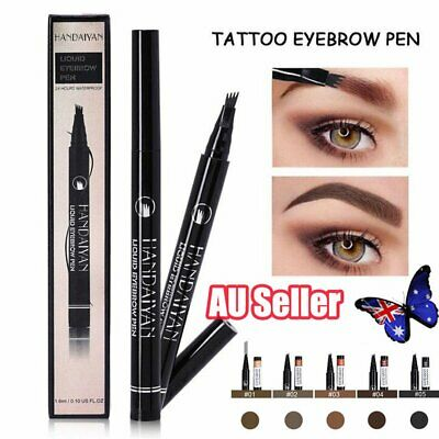 Waterproof TatBrow Microblade Pen Four Eyebrow Tattoo Pen Fork Tip Ink Sketch GL