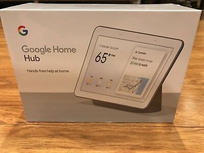 """Google Home Hub with Google Assistant Smart 7"""" Display - Charcoal Black New"""