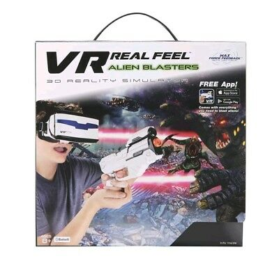 VR Real Feel Alien Blaster Set 3D virtual reality simulator kids game challenge