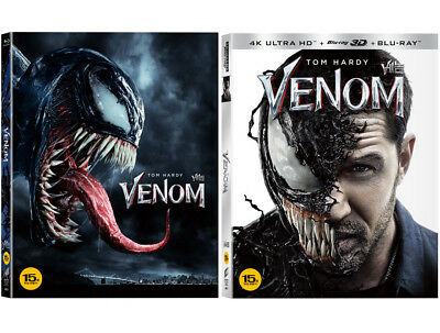 Venom - 4K UHD, 3D, 2D Blu-ray Slip Case Limited Edition (2019) / Pick one!