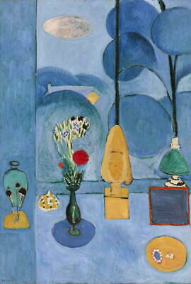 Henri Matisse The Blue Window Giclee Art Paper Print Poster Reproduction