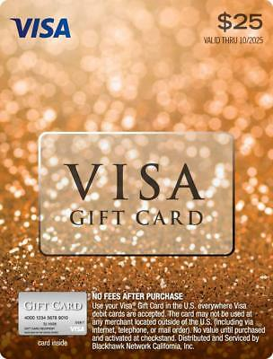 $25 VISA CARD ACTIVATED No Fees After Purchase