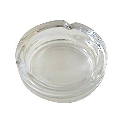 Round Clear Glass Cigarette Cigar Ashtray - Set of 4