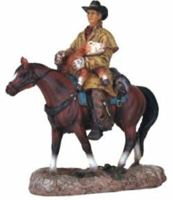 Cowboy on Horse Collectible Western Rodeo Decoration Figurine Statue - NEW
