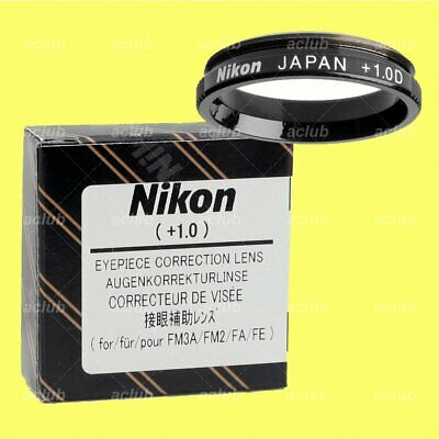 Genuine Nikon +1.0 Correction Eyeypiece Lens Diopter for FM3A FM2 FE2 FM FA FE