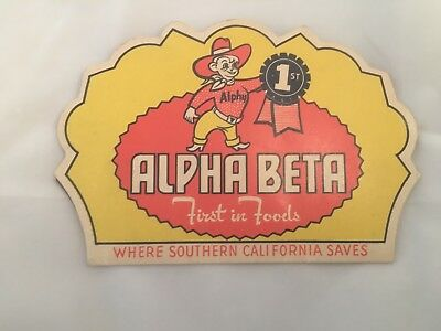40's/50's Alpha Beta Grocery Store Sewing Needle Set