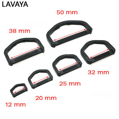 Plastic D Rings, Buckles for Webbing Hand Bags Leather Craft  Webbing 12mm~50mm