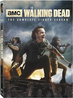 The Walking Dead: The Complete Eighth Season 8 (Brand New, DVD, 5-Disc Set)