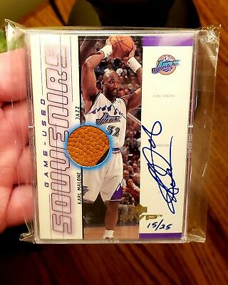 Karl Malone 2000-01 Upper Deck Mvp Pro-Sign Game-Used Souvenirs **gold** ~15/25~