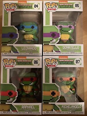 Spielzeug Teenage Mutant Ninja Turtles 8-bit Pop Vinyl Figur Donatello 9 Cm Neu & Ovp Film-fanartikel