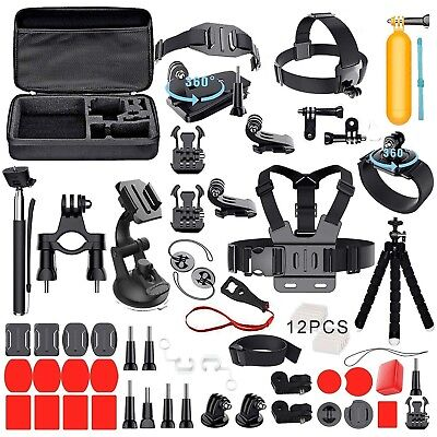 Accessories Set Kit For Gopro Hero 6/5/4/Session/7 camera Kit with Carrying Case