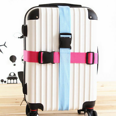 Adjustable Luggage Straps Travel Buckle Lock Tie Down Belt for Baggage Colorful