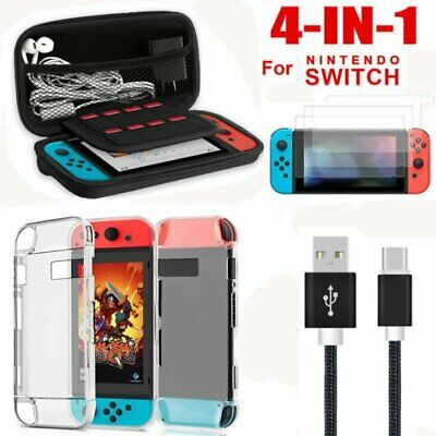 Accessories Case Bag+Shell Cover+Charging Cable+Protector for Nintendo Switch P8
