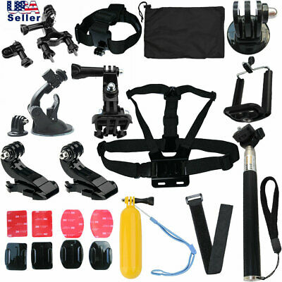 23 Pcs Accessories Kit Mount for Gopro go pro hero 7 6 5 Session 4  Wrist Strap