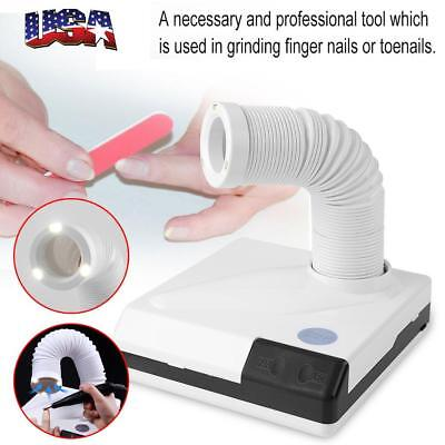 Pro Nail Suction Dust Remover Collector Manicure Vacuum Cleaner Machines Tool US