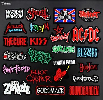 Super Punk Rock Band Music Song Name Badge Embroidered Iron on Applique Patch