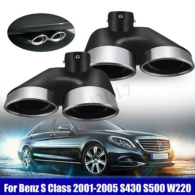 Exhaust Muffler Pipe Dual Tips For Mercedes-Benz W220 S430 S500 2001-2005 AMG UK