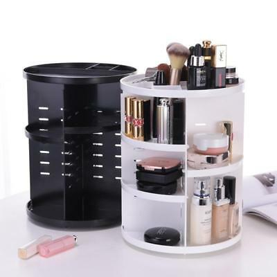 360 Degree Rotating Makeup Organizer Acrylic Cosmetic Display Spinning Rack
