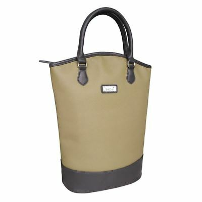 Sachi - Two Bottle Wine Insulated Tote Sage Green