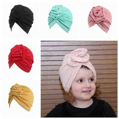1PC Fashion Cute Kids Baby Girls Cap Headband Hat Beanie Scarf Turban Head Wrap