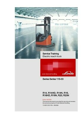 Linde R14 R14Hd R14N R16 R16Hd R16N R20 R20N Service Training Manual Reprinted