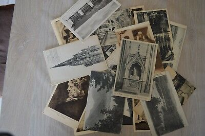 France 1910 - 1940 Lot of 10 Antique French postcards different towns vintage