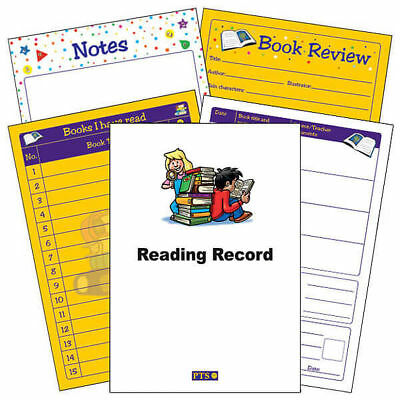 Children Themed Reading Record Book Primary Teaching Comprehension Childrens A5