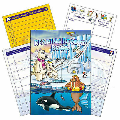 Polar Themed Reading Record Book Primary Teaching Literacy Childrens A5